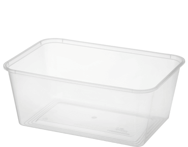 MicroReady® Rectangular Takeaway Container 1000ml Clear (50's)
