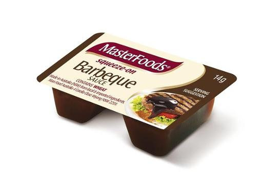 MasterFoods BBQ Sauce Squeeze On Portions (14Gx100)