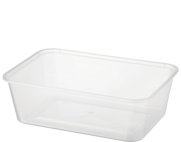 MicroReady® Rectangular Takeaway Container 750ml Clear (50's)