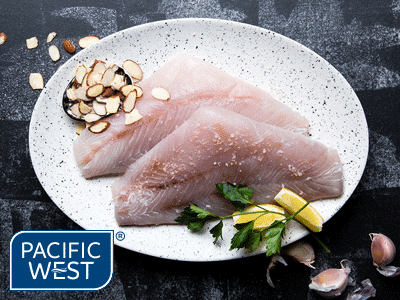 Pacific West 100/200 Barramundi Fillets Skinless Deboned - IWP 5KG