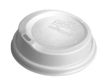 Eco-Smart® Combo Hot Cup Lid White  - to suit 8oz, 12oz & 16oz Cups (100's)