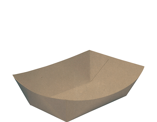 Rediserve® Kraft Paper Food Trays #3 - Medium Uncoated (125's)
