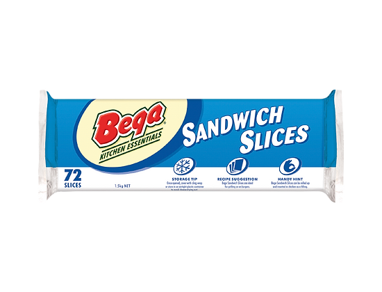 Bega Sandwich Slices 1.5kg (72 slices)