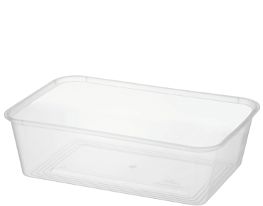 MicroReady® Rectangular Takeaway Container 700ml Clear (50's)