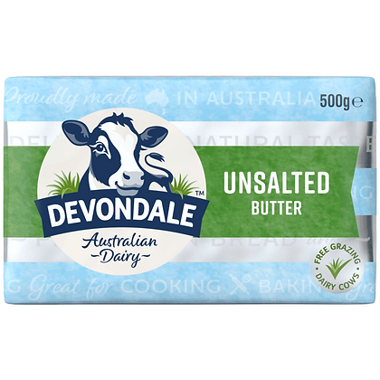 Devondale Unsalted Butter 500g