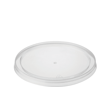 """MicroReady® Small Round Takeaway Container Lids To suit CA2/CA4 Clear (100's) """