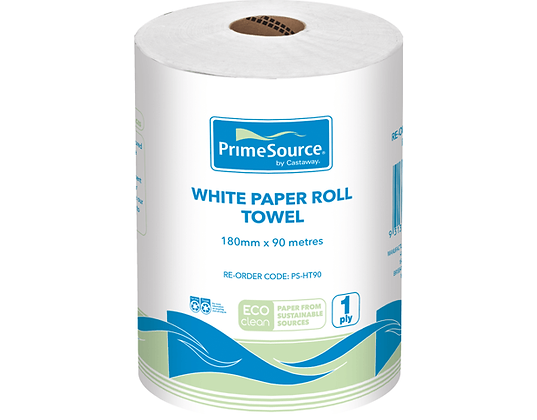 Eco-Clean® Paper Roll Towel PrimeSource® White 180mmX90m (16)