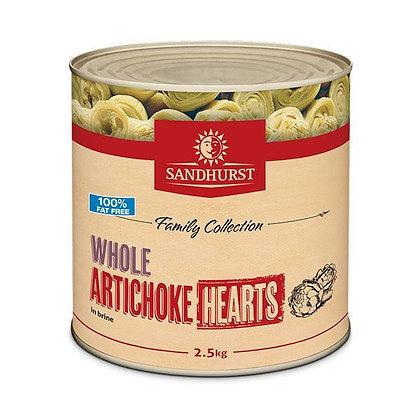 Sandhurst Whole Artichoke Hearts 2.5KG (6)