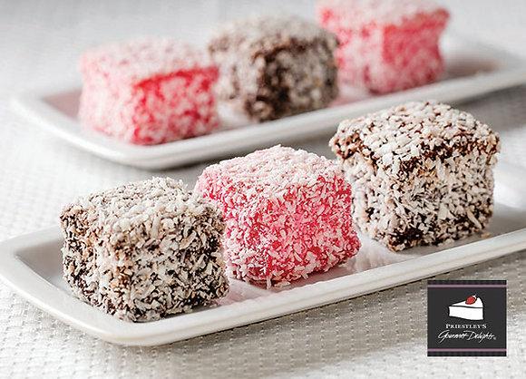 Priestleys Lamingtons 4cm Square Chocolate & Raspberry (23GX48) (6)