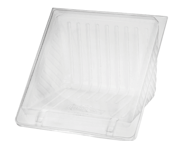 Eco-Smart® Bettaseal® Sandwich Wedge - 4 Quarter P.E.T. Clear (125's)