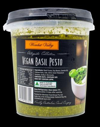 Wombat Valley Vegan Basil Pesto 1KG (6)