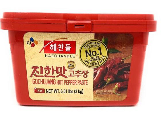 Korean Hot Red Chilli Paste Gochujang Red Tub 3KG (4)
