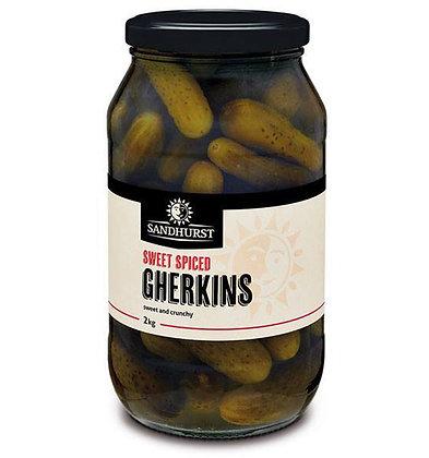 Sandhurst Whole Sweet Spiced Gherkins 2KG (6)