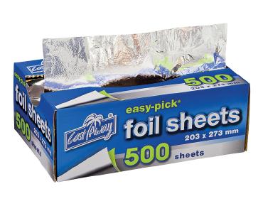Easy-Pick® Heavy Duty Cut Foil Sheets Dispenser Pack Medium (500's)