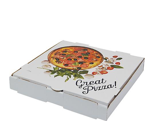 "12"" White Pizza Boxes (50's)"