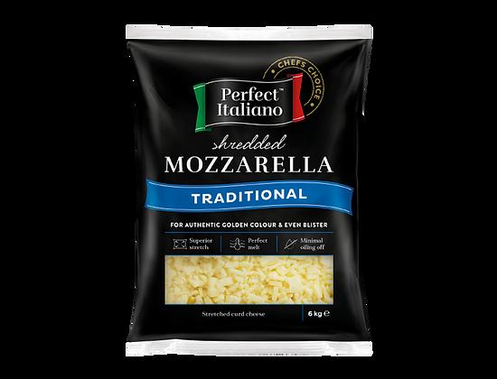Perfect Italiano Traditional Mozzarella Shredded 6KG