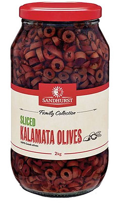 Sandhurst Sliced Pitted Kalamata Olives 2KG (6)