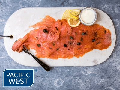 "Pacific West Atlantic Salmon Smoked Sliced ""Premium Grade"" 1KG (10)"