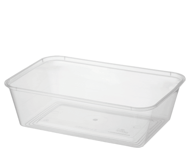 MicroReady® Rectangular Takeaway Container 650ml Clear (50's)