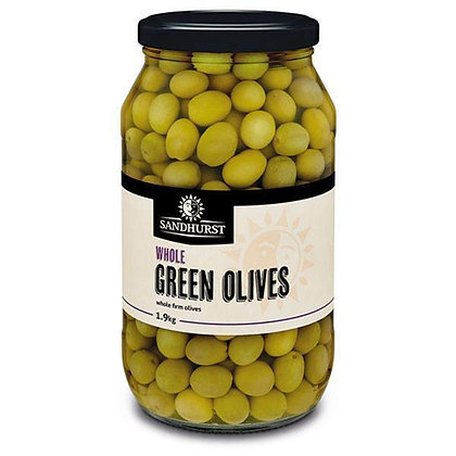 Sandhurst Whole Green Olives 2KG (6)