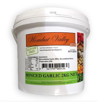 Wombat Valley Minced Garlic 2KG (6)