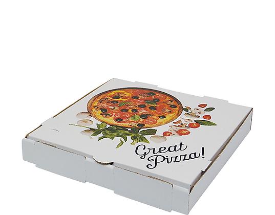 "11"" White Pizza Boxes (50's)"