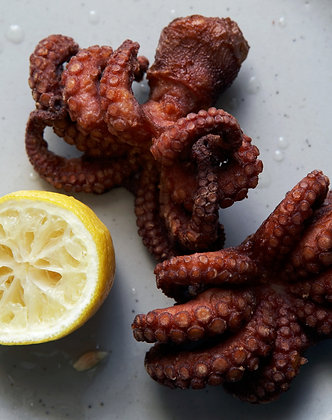 Blueline26/40  Baby Octopus Head On Flowered IQF D/Skin 1KG (10)