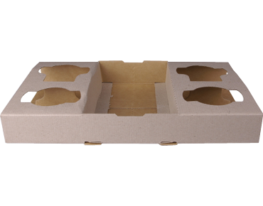 4 Cup Carry Tray 100's - To Suit 8 - 24 oz Cups