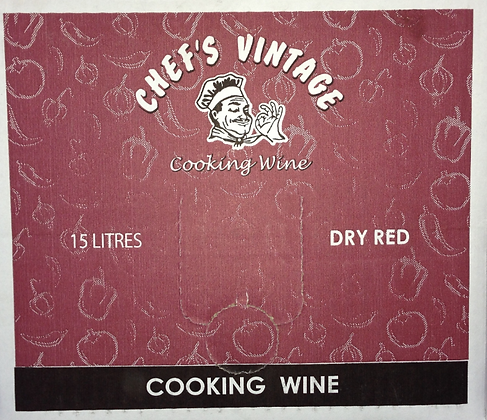 Chefs Vintage Dry RED Cooking Wine 15L