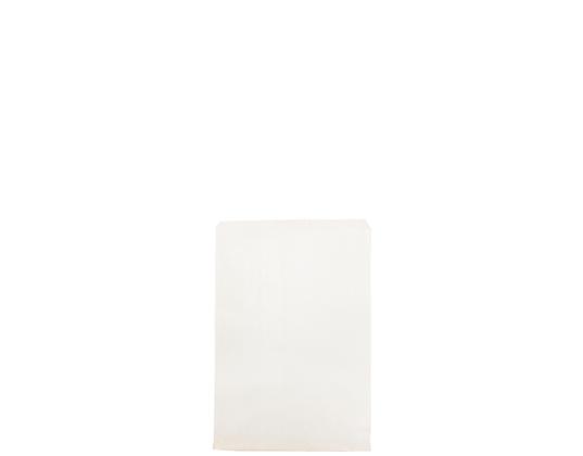 #1 Flat White Paper Bag White, Unstrung (1000's)