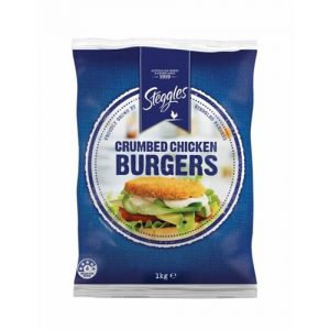 Steggles Crumbed Chicken Burger 1KG (11 Units Approx)