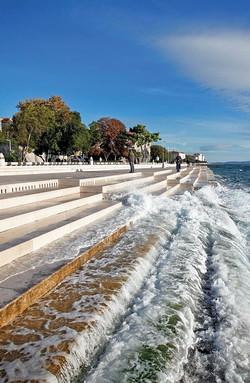 The musical waves of the Zadar sea organ