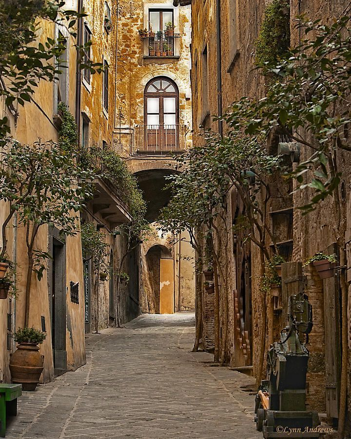 Orvieto's Winding Streets by Lynn Andrew