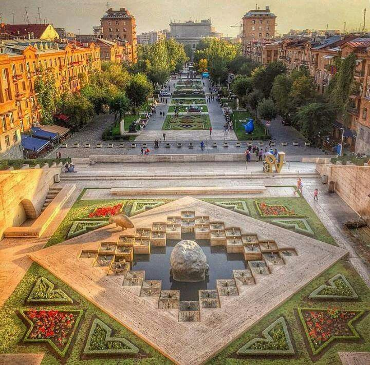 The Cascade Stairs in Yerevan, Armenia