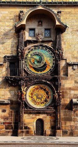 600 year old astronomical clock in Pragu