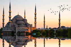 hagia-sophia-and-blue-mosque-sunset-ista