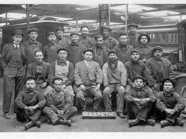 Pictured are the men who worked in the Bohack Barn during the 1930s