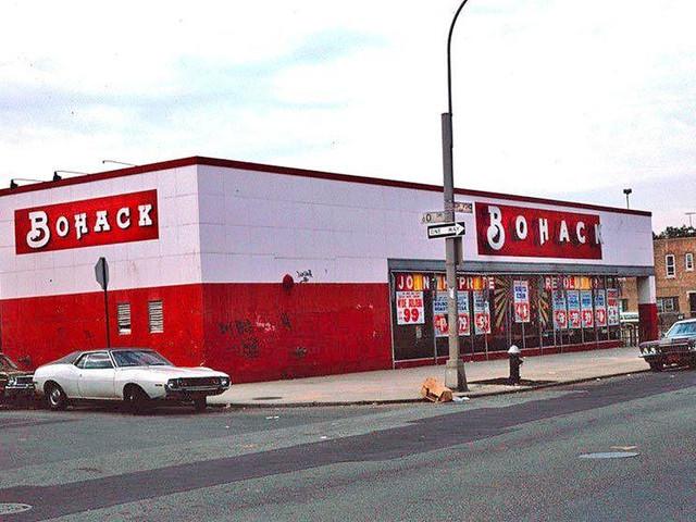 Bohack supermarket, 60-40 Fresh Pond Road, Maspeth, summer 1975.