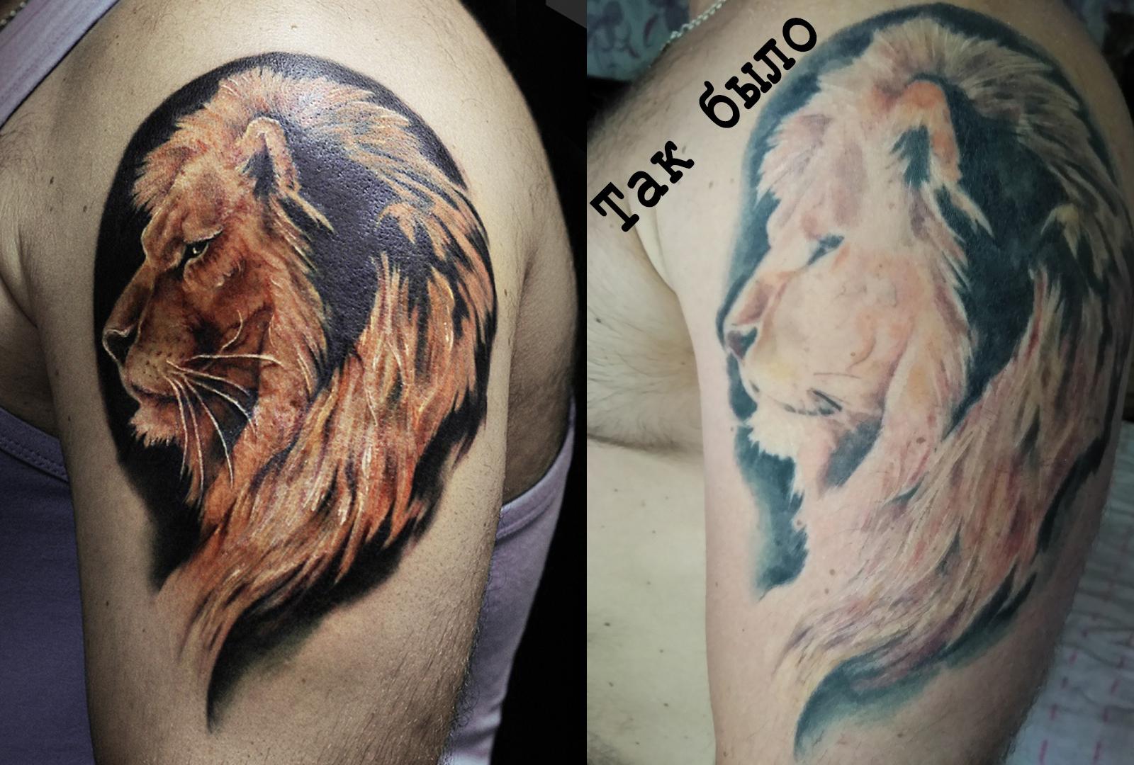 Фото татуировки, коррекция, доработка та