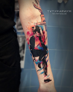 татуировка майкла джексона, в стиле реал