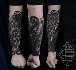 Фото татуировки, геометрический узор на