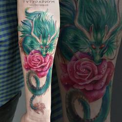 фото татуировки, японский дарон на прдпл