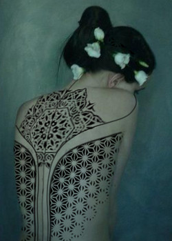 Эскиз татуироки тату белгород, орнаменталная татуировка на спине у девушки 2.