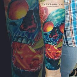 Фото татуировки, цветной реалистичный че