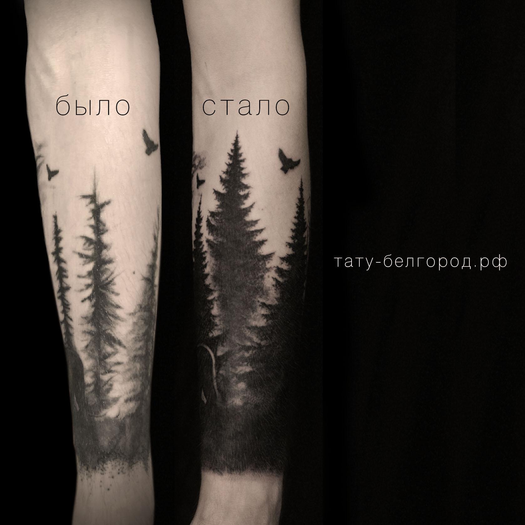Фото татуировки, коррекция татутироки ле