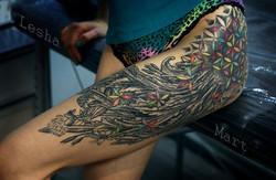 Фото татуировки, полевые цветы и цветок