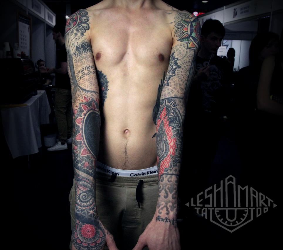Фото татуировки, орнаменталные рукова, т