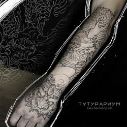 Фото татуироки, рукав в стиле япония, та