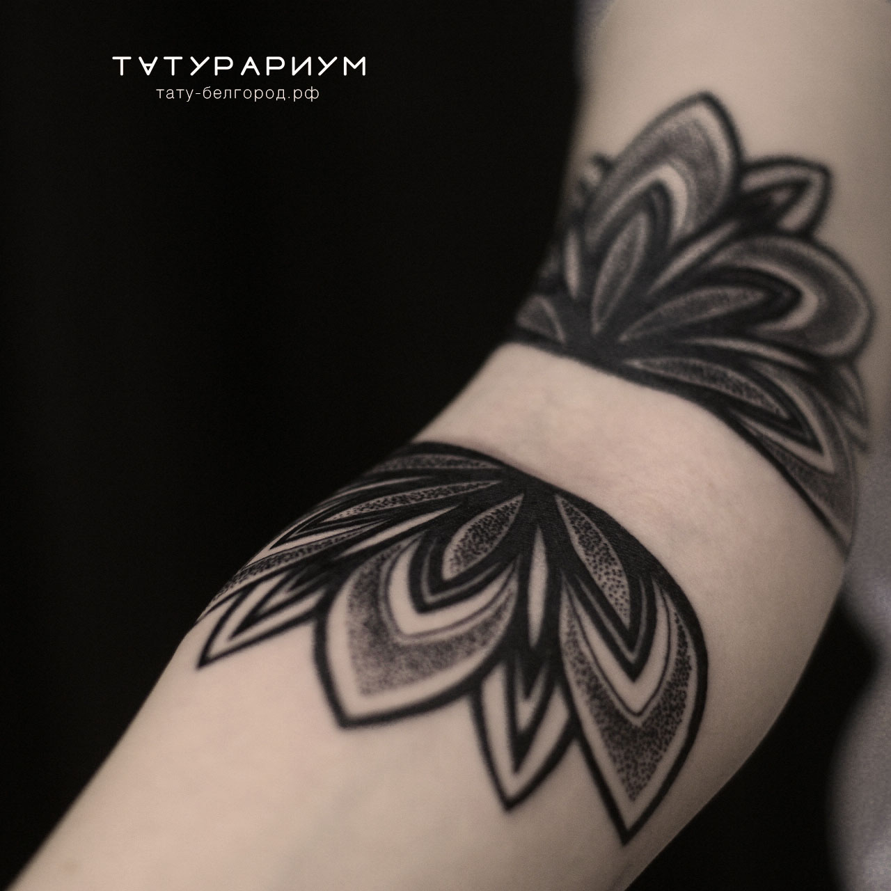 Фото татуировки, нандала на сгибе руки у