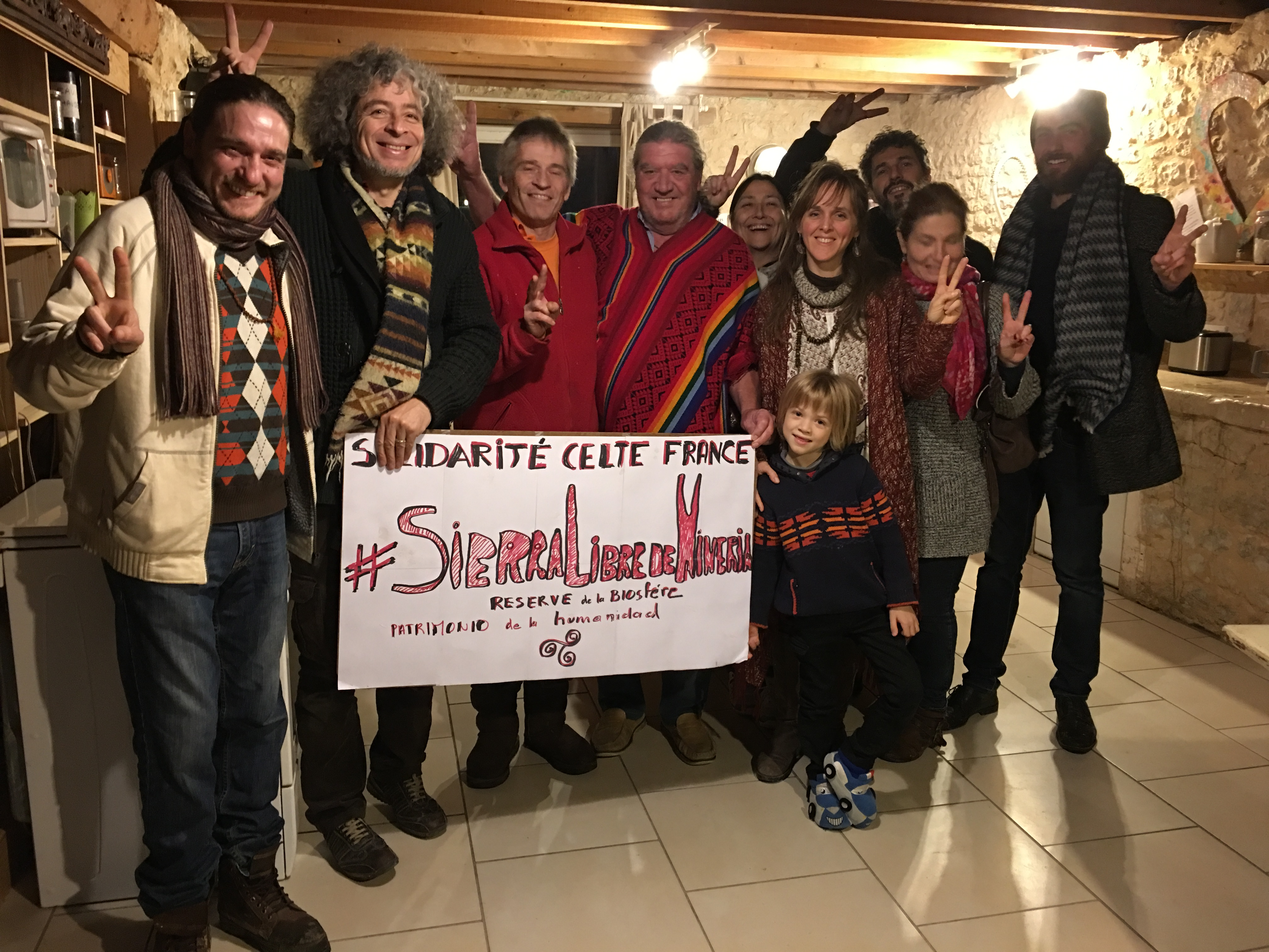 Marc vella pianiste international avec ses amis soutient les Arhuacos